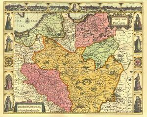 Poland polski replica printed john speed 17c old map gift idea image is loading poland polski replica printed john speed 17c old gumiabroncs