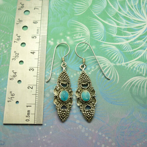 Details about  /New Classic  Vintage Sterling Silver Earrings Style 9 Turquoise