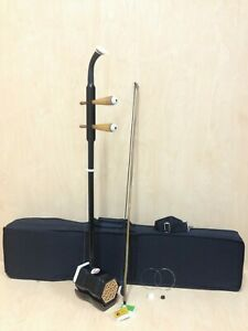 Chinese-2-stringed-Fiddle-Erhu-Solid-Timber-Body-Neck-Foam-Case-Extra-String