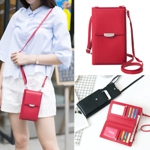 Women-Wallet-Purse-Shoulder-Bag-PU-Leather-Coin-Cell-Phone-Mini-Crossbody-Bag-AU
