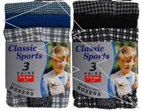 12 Pack Garçons Enfants Coton Jersey Carreaux Rayure Boxer Shorts Junior Pantalon Âge 2-13