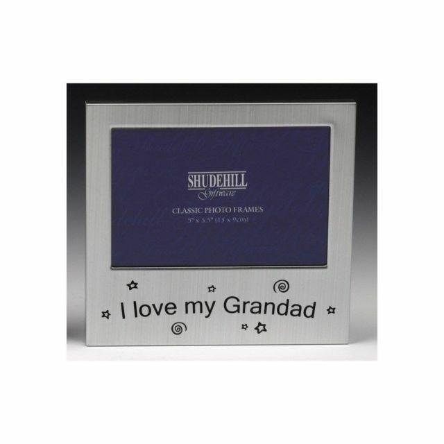 I Love My Grandad Satin Silver Photo Frame