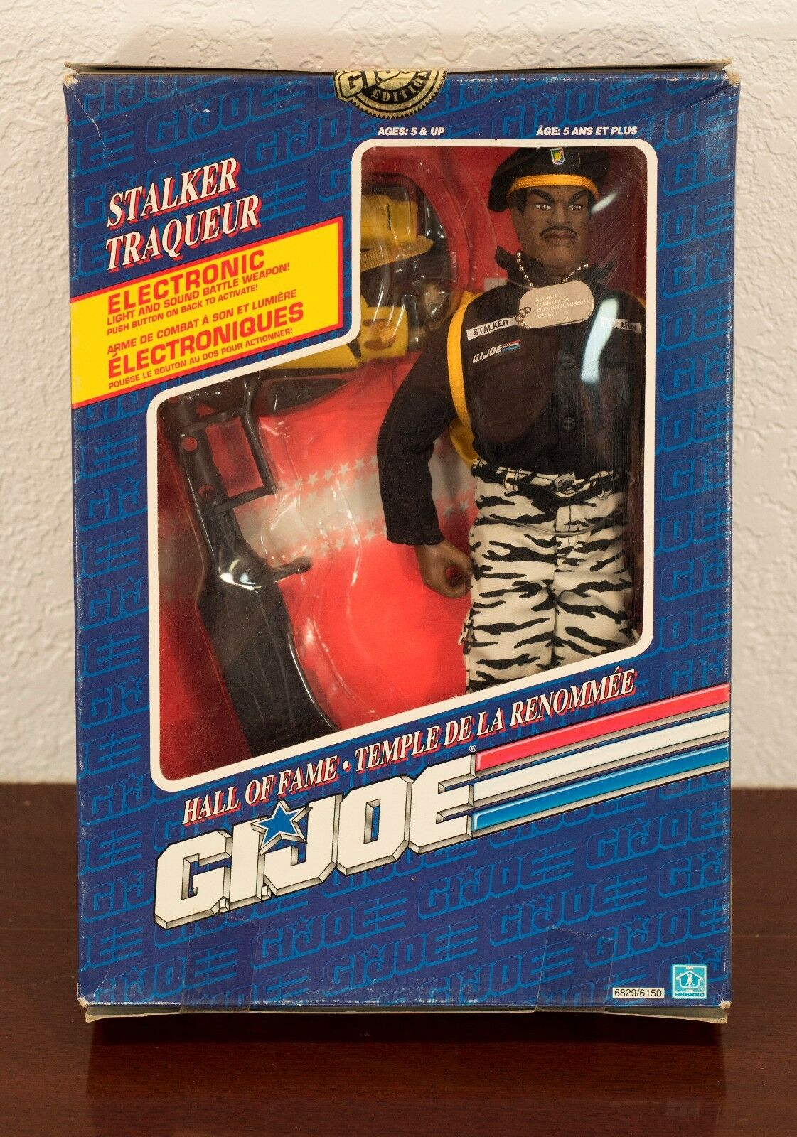 1991 - gi joe hall of fame stalker traqueur actionfigur mib