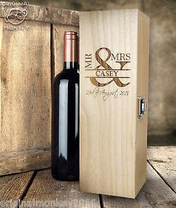 Image Is Loading Personalised Wedding Gift Wine Box Mr Amp