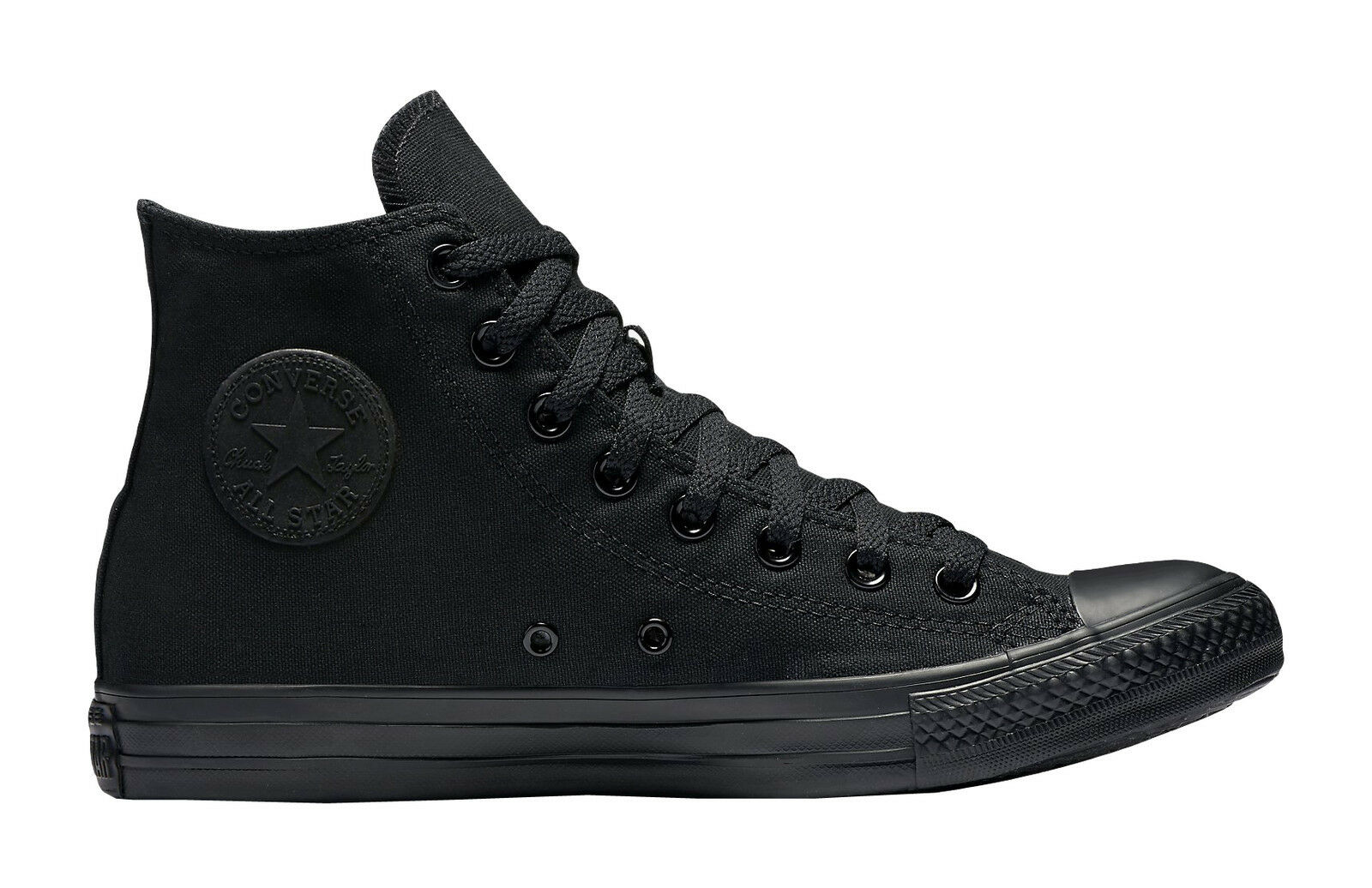 Converse All Star Chuck Taylor Shoe Black Mono Hi Top Canvas Women Sneaker M3310