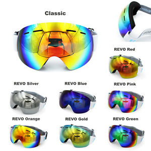 Frameless Winter Snow Snowboard Snowmobile Ski Goggles Anti Fog UV Double Lens