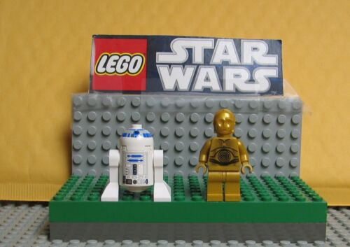 "STAR WARS LEGO  LOT  MINI FIGURE  MINIFIG /""  R2-D2  /& C-3PO --#1 DARK GOLD"