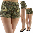 Sexy Women Camouflage Hot Pants Style Denim Shorts Ladies Jeans Size 8 10 12 14