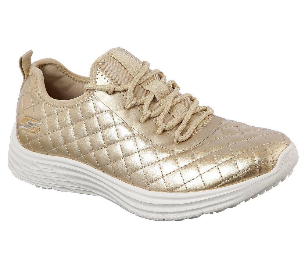 NEU BOBS SKECHERS Damen Sneakers Freizeitschuhe BOBS NEU SWIFT Sport - SOCIAL HUSTLE Gold 52aa1b