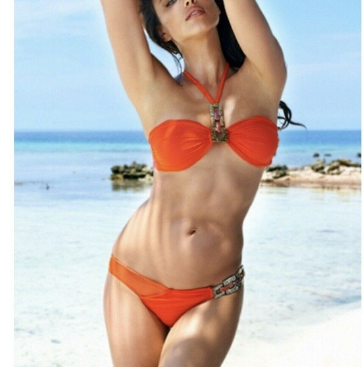 Beach bunny mustang red bikini large new with tags NWT SOLD OUT