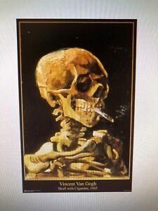 Details about VINCENT VAN GOGH SKULL WITH CIRGARETTE 24X36 POSTER POST  IMPRESSIONIST DUTCH NEW