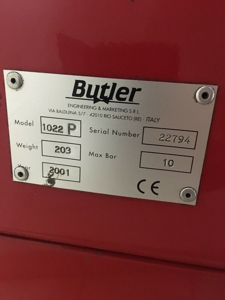 "Dækapparat prof. op til 22"" fælge , Butler Classic Plus"