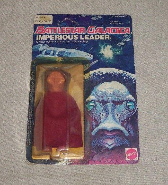 Vintage 1978 Mattel Battlestar Galactica Imperious Leader Carded Figure