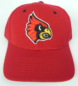 cheap for discount 9cb0a 6e844 Image is loading LOUISVILLE-CARDINALS-RED-NCAA-VINTAGE-FITTED-SIZED-ZEPHYR-