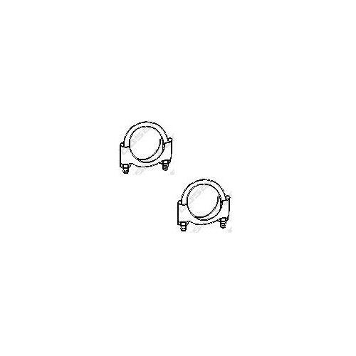Bügelschelle 2x Klemmstück BOSAL 250-245 OE 99.1045 Ø 45 mm