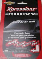 Chevy Chevrolet Truck Auto Sticker Decal Window Logo Windshield White Tint Front