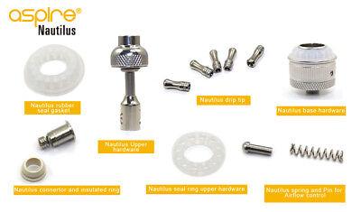 Aspire Nautilus Spare Parts - Base, Drip Tip, Upper Hardware, Seal O ring
