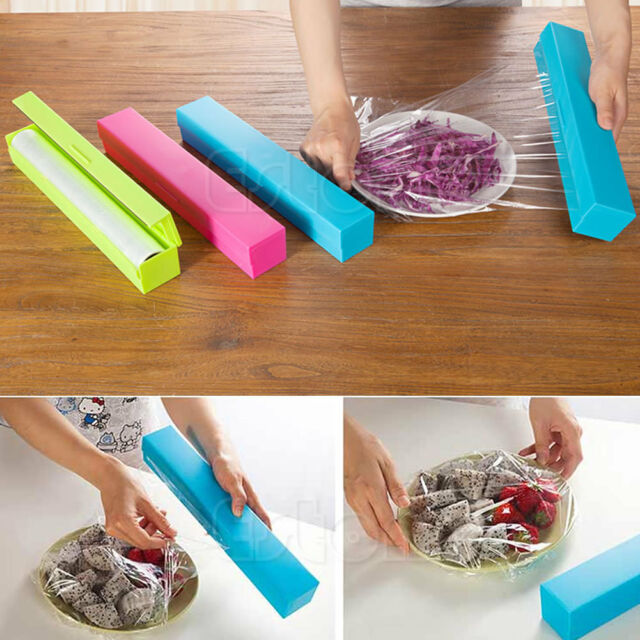 First Plastic Kitchen Foil And Cling Film Wrap Dispenser Cutter Storage 3 Color