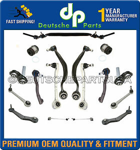 FRONT-REAR-Control-Arm-Arms-Ball-Joint-Center-Link-Tie-Rod-Rods-FIT-BMW-E38-740