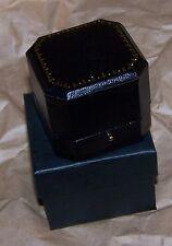 Black Cut Leatherette Earring Pin Jewel Token Coin Display Gift Box Case Award X