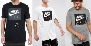Nike-New-Mens-T-Shirt-Gym-Cotton-Sports-Crew-Neck-Large-Box-Logo-Size-S-M-L-XL