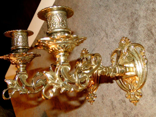 Wall Candle Sconces Brass Mounted Holder Piano Candlestick Holder