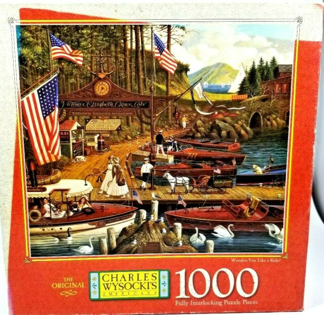 CHARLES WYSOCKI'S 1000 PIECE PUZZLE ~WOODEN YOU LIKE A RIDE?~ 12+ # 4679-17