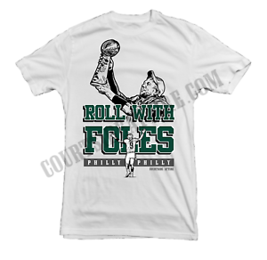low priced 2c02e d1aac Details about Nick Foles ROLL WITH FOLES Shirt jersey Adult Mens  philadelphia
