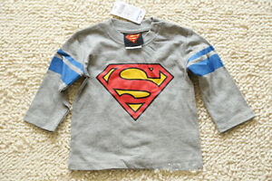 Toddler-Baby-kids-T-shirt-Playsuit-Outfits-Clothing-Long-Sleeve-Top-Superman