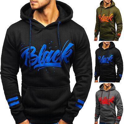 Kapuzenpullover Sweatjacke Hoodie Sweatshirt Pullover Herren BOLF 1A1 Aufdruck