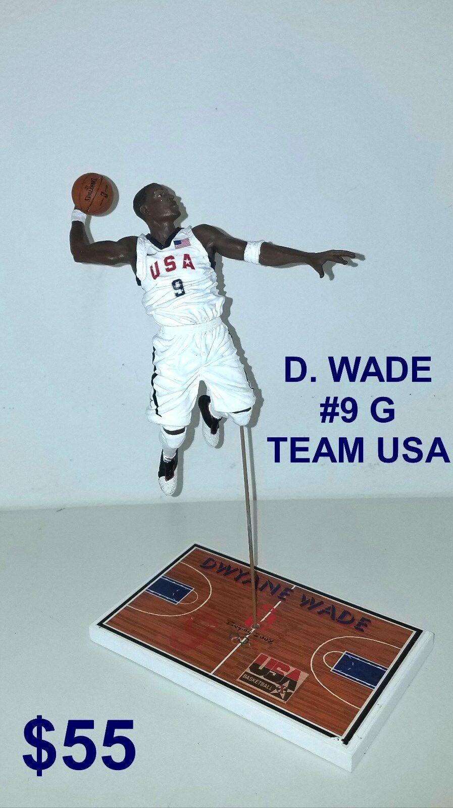 Custom D. Wade SG Team USA  bianca uniform  Mcfarlane figure
