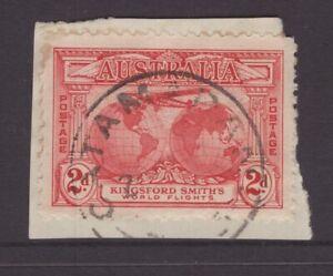 Tasmania-CATAMARAN-type-4-postmark-rated-2R-by-Hardinge-on-piece
