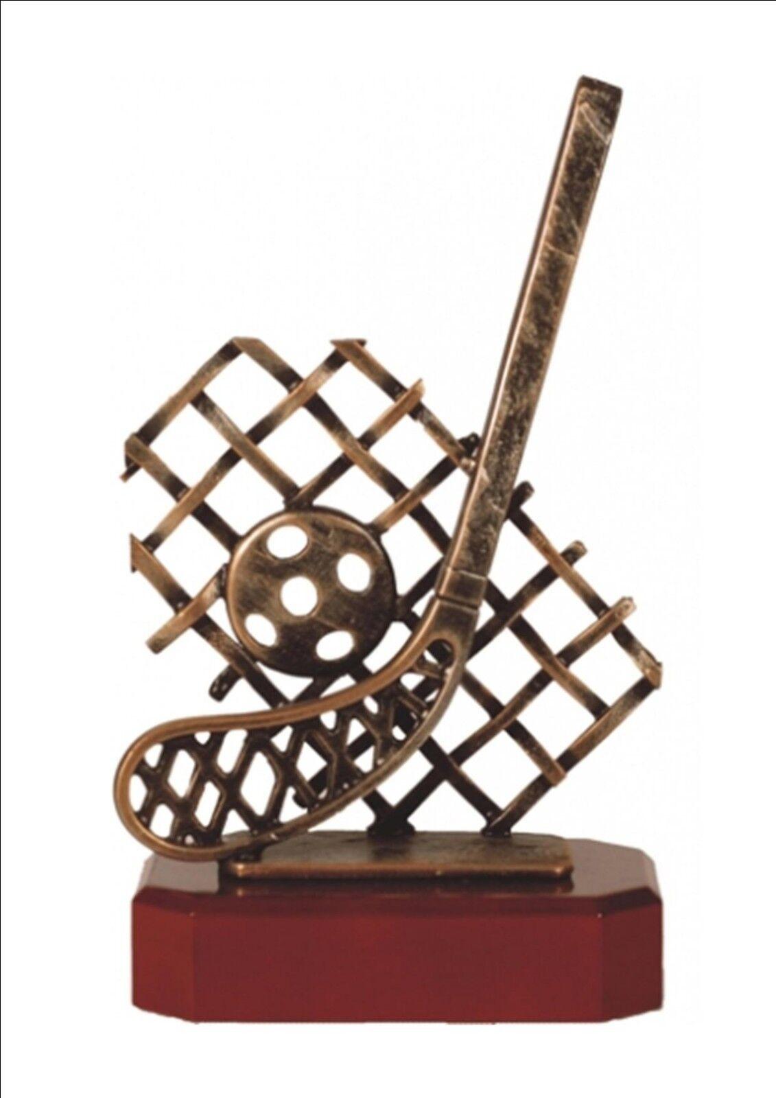 LACROSSE TROPHY CAST METAL & HARDWOOD TROPHY WINNER FREE ENGRAVING