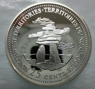 CANADA 1867-1992 ANNIVERSARY 25¢ NORTHWEST TERRITORIES SILVER PROOF QUARTER COIN