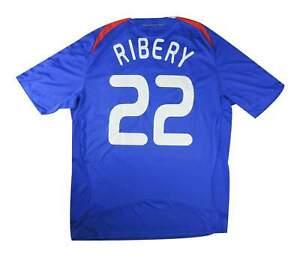 FRANCIA 2007-8 ORIGINALE Maglietta RIBERY #22 (eccellente) XL soccer jersey