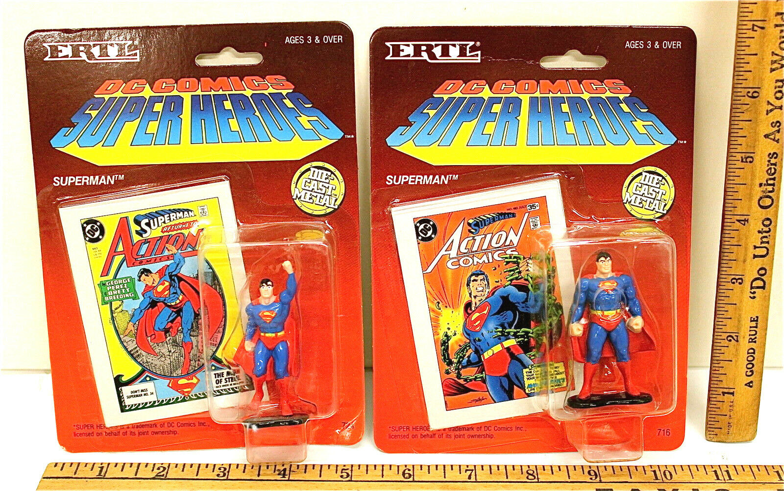 Superman Superman Superman Superwoman Lot Ertl Diecast Felt Patches 5 Action Figures Marvel Rings 41e730