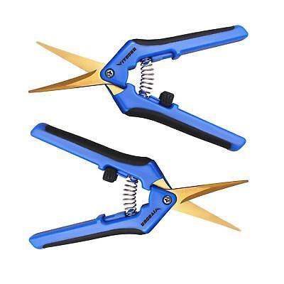 VIVOSUN 2 Pack Garden Hand Pruners Curved Blade Pruning Shears Trimming Scissors