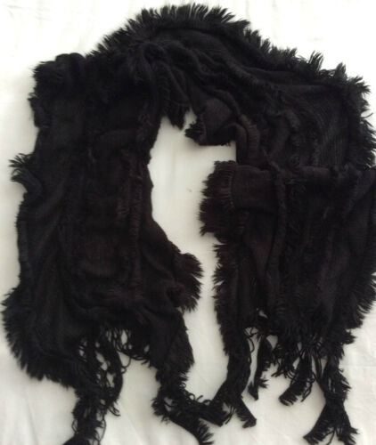 Ladies M /& S BNWT Black fluffy scarf one size