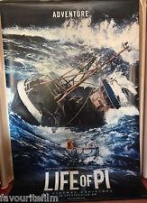 Cinema Banner: LIFE OF PI 2012 (Adventure) Suraj Sharma Adil Hussain Ang Lee