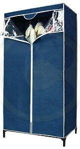 Armadio In Plastica Con Cerniera.Armadio Tnt Tessuto Con Cerniera Portabiti Casa Campeggio Cm 80 X 46 X 156 1784 Ebay