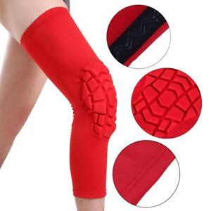 27fbfe381f Image is loading Honeycomb-Knee-Pad-Basketball-Leg-Long-Sleeve-Protector-