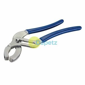 Wide Jaw Plumbing Pliers - 250mm - Jaw 85mm With Pair Of Removable Soft Jaws