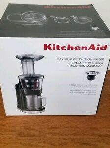 Details about KitchenAid KVJ0111OB Onyx Black Maximum Extraction Slow Juicer