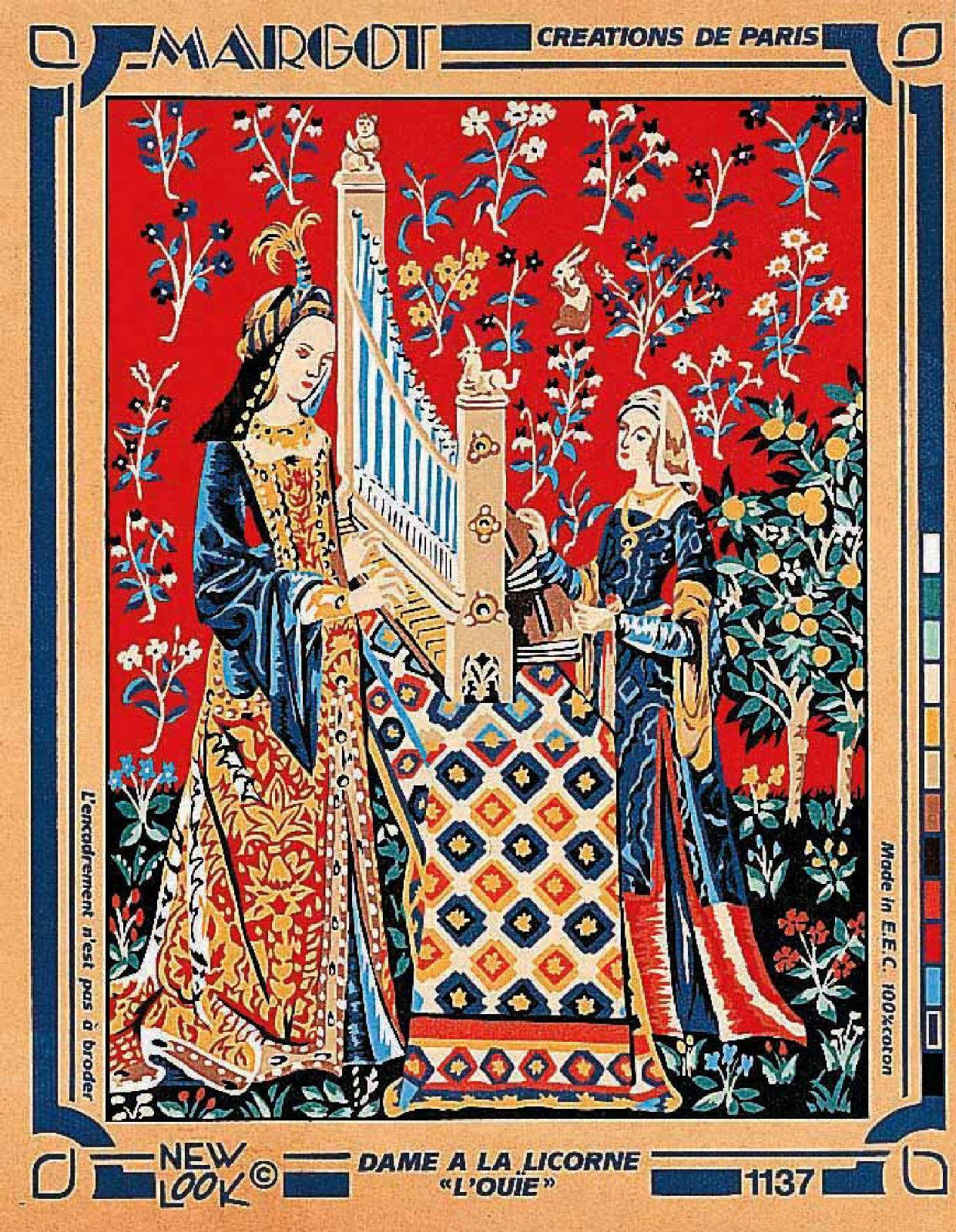 Margot de Paris Tapestry//Needlepoint Canvas Elle..
