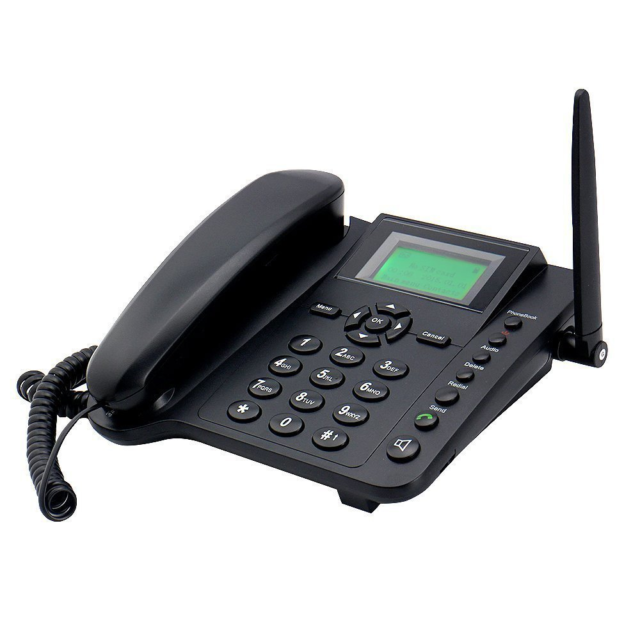Sourcingbay Wireless GSM Desktop Phone with 2G SIM Card Slot - Quadband and  SMS