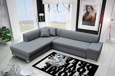 Ecksofa Eckcouch Porto mit Bettfunktion Sofa Couch Schlaffunktion  01199