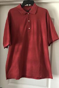 EUC-Greg-Norman-Red-Men-s-Short-Sleeve-Tennis-Golf-Sport-Polo-Shirt-XL