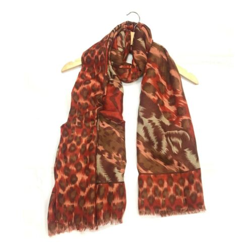 Ladies Womens Leopard Animal Print Lightweight Airy Soft-Touch Everyday Scarf