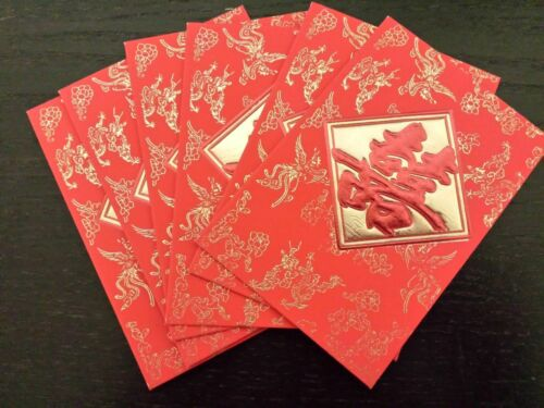 CHINESE NEW YEAR WEDDING BIRTHDAY GOOD LUCK RED ENVELOPES ALL OCCASION US SELLER
