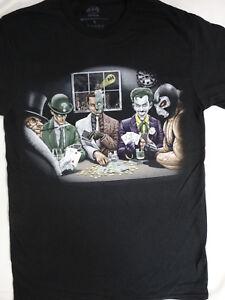 Penguin-Joker-Two-Face-Riddler-Bane-Playing-Poker-Villians-Dc-Comics-T-Shirt